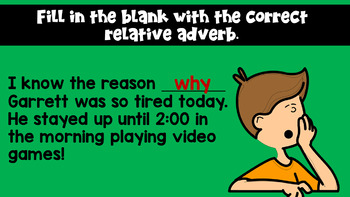 Relative Pronouns and Relative Adverbs PowerPoint (with a study guide!!)