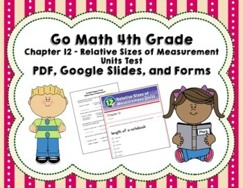 Relative Sizes of Measurement Test (Go Math Chapter 12 4th Grade)