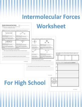 Intermolecular Forces Activities & Worksheets   Teachers Pay Teachers