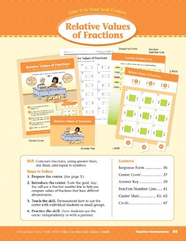 Relative Values of Fractions (Take It to Your Seat Centers Common Core Math)
