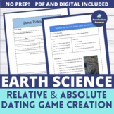 Relative and Absolute Dating Game Creation Activity