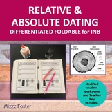 Relative and Absolute Dating Graphic Organizer Fold-Out Foldable for INB