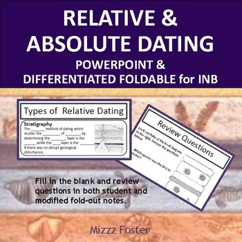 Relative and Absolute Dating PowerPoint and Guided Notes Foldable for INB
