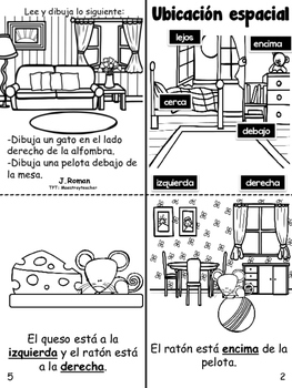 Relative location/ Ubicacion espacial book bilingual