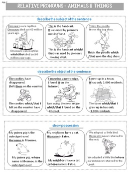 Relative pronouns & relative clauses: Common Core grammar workshop, grade 4