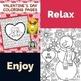 Relax! Coloring Pages Mega Bundle