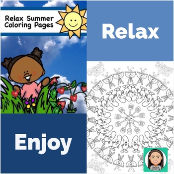 Coloring Pages, Relax!: BBQ, Strawberry Picking and Butterfly Catching