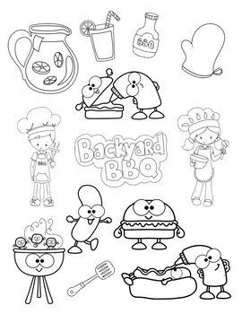 Bbq Coloring Pages - Coloring Pages Kids 2019