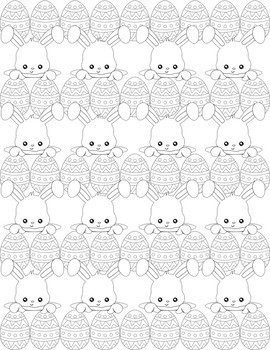 Relax! Coloring Pages:  Spring Time & Easter