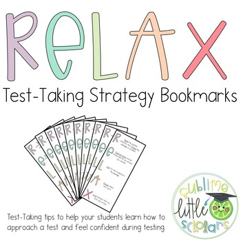 Relax Testing Strategies Bookmarks
