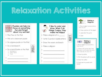 Relaxation Strategies Binder for Autism, Special Ed, Elementary Ed