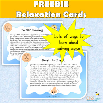 Relaxation/calming exercises and activities for children
