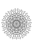 FREE DOWNLOAD, Relaxing mandala coloring for children and