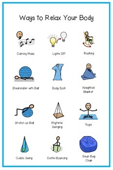 Relaxing/Calming Poster- Sensory/Therapy Room
