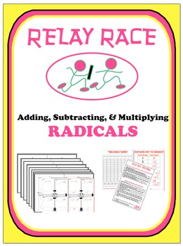 Relay Race - Radicals (Addition, Subtraction, & Multiplication)
