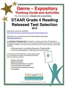 Released 2013 STAAR Analysis and Activities Bundle, Grade 4 Reading