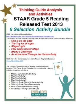 Released 2013 STAAR Analysis and Activities Bundle, Grade 5 Reading