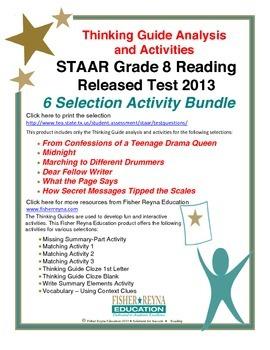 Released 2013 STAAR Analysis and Activities Bundle, Grade 8 Reading