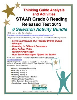 Released 2013 STAAR Analysis and Activities Bundle, Grade
