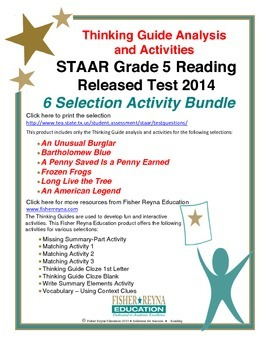 Released 2014 STAAR Analysis and Activities Bundle, Grade