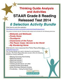 Released 2014 STAAR Analysis and Activities Bundle, Grade 8 Reading