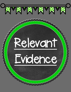 Relevant Evidence Graphic Organizer