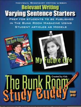 Relevant Secondary Writing: Varying Sentence Starters