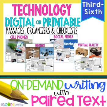 Writing On-Demand Opinion Essay with Paired Texts: Relevant Topics Bundle