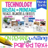 Technology Bundle: Writing On-Demand Opinion Essay with Paired Texts