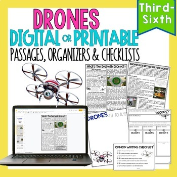 Technology Bundle •  Print or Digital Paired Text Passages | Distance Learning