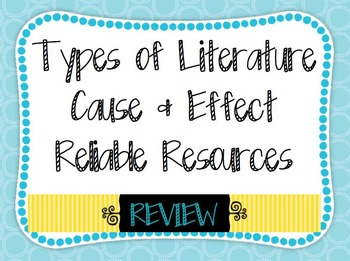 Reliable Resources Cause Effect Types of Literature Comprehensive Review