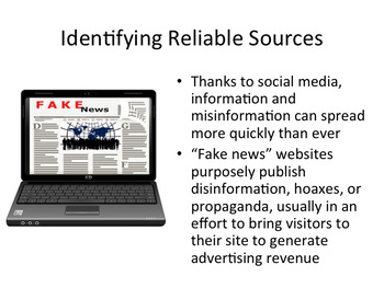 Fake News or Reliable Source Presentation