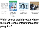Reliable Sources Powerpoint - Test format examples with images!