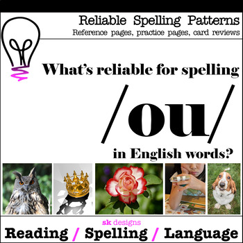 Reliable Spelling /ou/ Practice Review Reference Printables w Bonus Flash Cards!