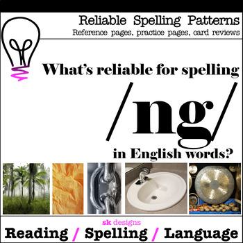 Reliable Spellings /ng/ Practice Review Reference Printables Bonus Flash Cards!