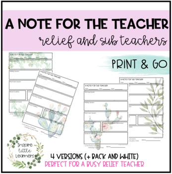 Relief - A Note for the Teacher