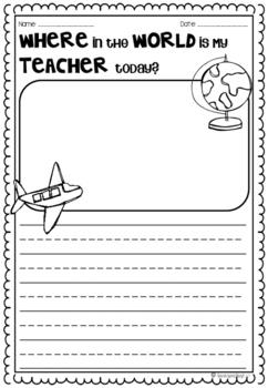 Relief Substitute Teacher FREEBIE