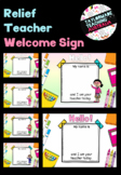 #ausbts18 Relief/Substitute Teacher Welcome Sign