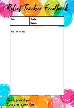 Relief/Supply/Casual Teacher Feedback Form