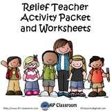 Relief Teacher Activity Packet and Worksheets