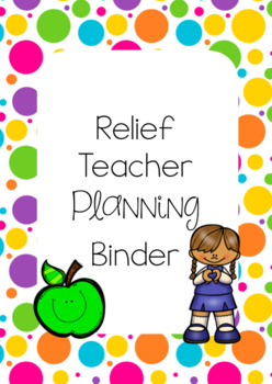 Relief Teacher Binder