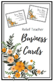 Relief Teacher Business Cards