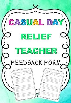 Relief Teacher Casual Day Feedback Form
