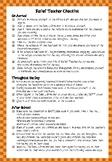 Relief Teacher Checklist