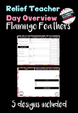 Relief Teacher Day Overview - 'Flamingo Feathers'
