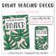 Relief Teacher Decor - Palm Lover