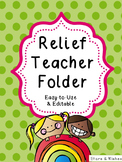 Relief Teacher Folder
