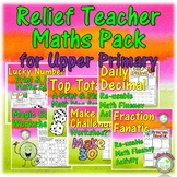 Relief Teacher Maths Resource Bundle for Upper Primary