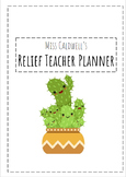 Relief Teacher Planner COVER PAGE   EDITABLE
