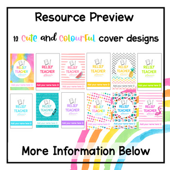 Relief Teacher Planner - Editable Cover Pages (2019)